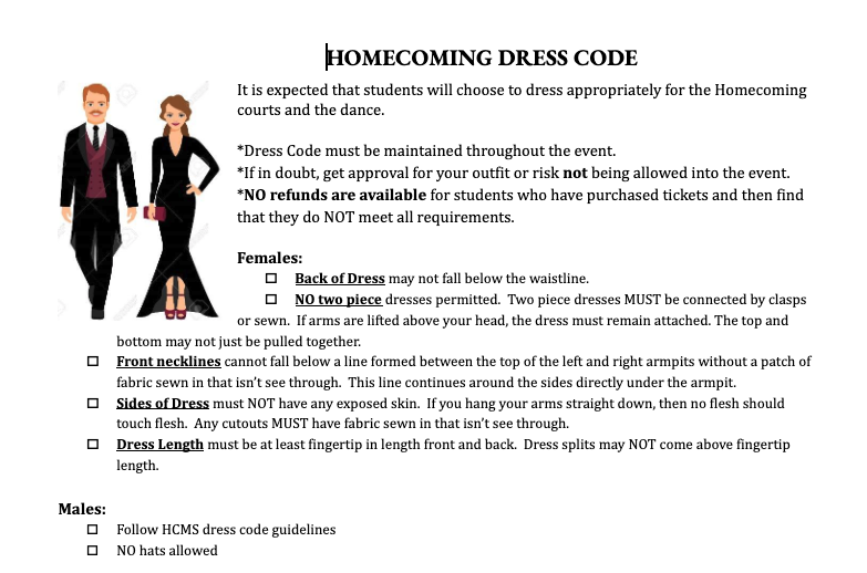 Homecoming Dress Code