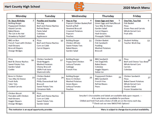 March HS lunch menu