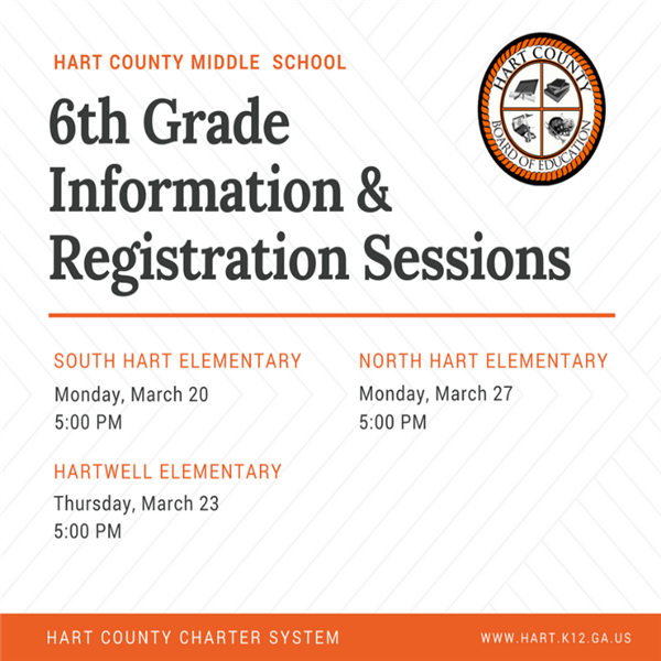 HCMS to host Information and Registration Sessions  for Rising 6th Graders