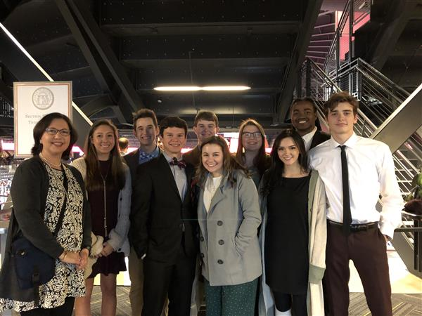 Students Attend Gov. Kemp Inauguration