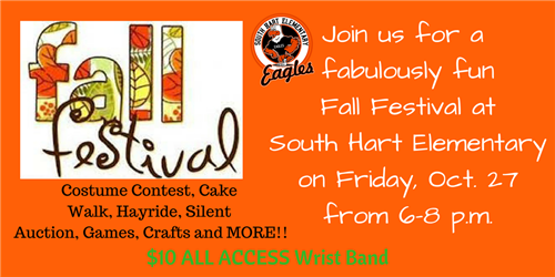 South Hart Fall Festival October 27 6-8 pm