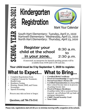 kindgarten registration