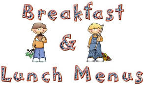 "Breakfast and Lunch Menus are located under the ""Parents"" tab."