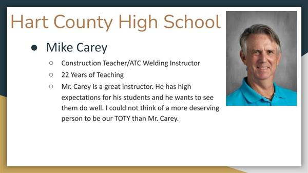 Mike Carey, Hart County High School
